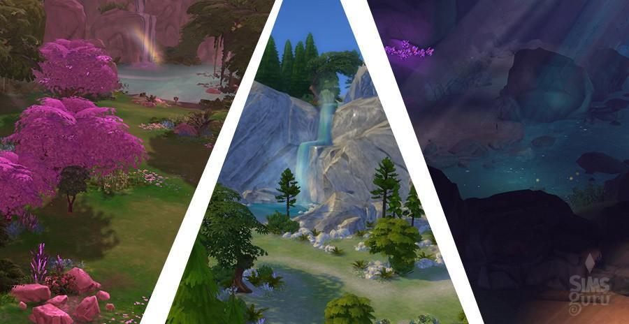 Lugares secretos Sims 4: Claro del bosque, Cueva Olvidada y Casa del Ermitaño o Corazón del bosque