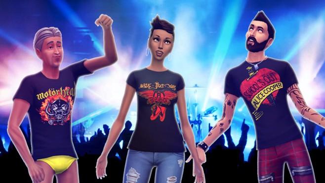 Mod Sims 4 camisetas rock contenido personalizado