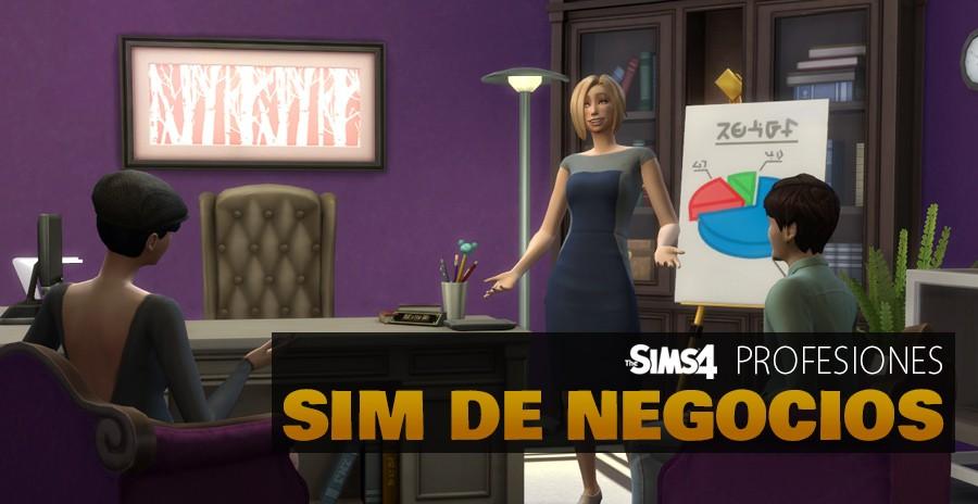 Sims 4 profesiones: Sim de negocios