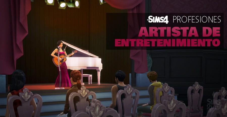 Sims 4 profesiones: Artista de entretenimiento