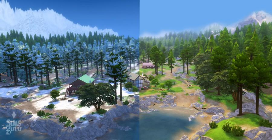 Mod Los Sims 4: Invierno en Granite Falls