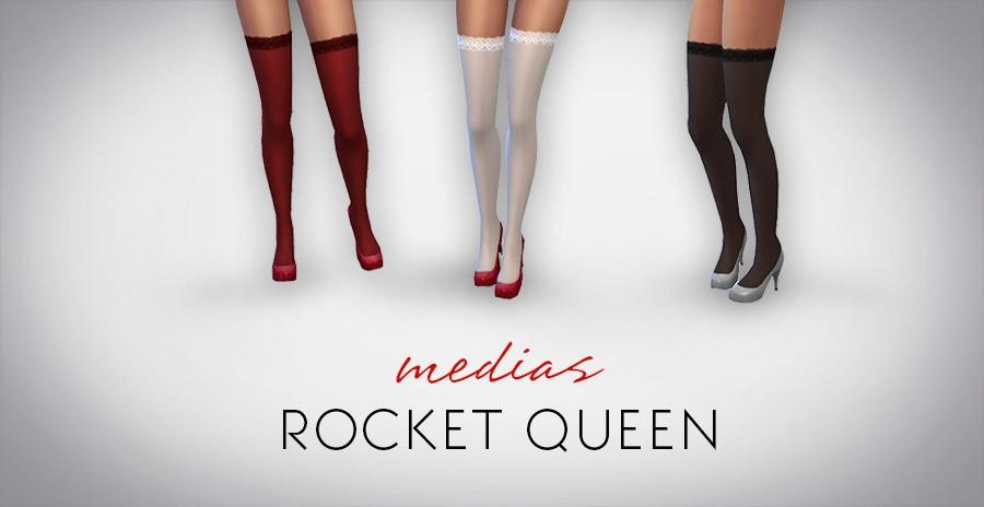 Mod Sims 4 de Medias lencería sexy ropa interior Rocket Queen