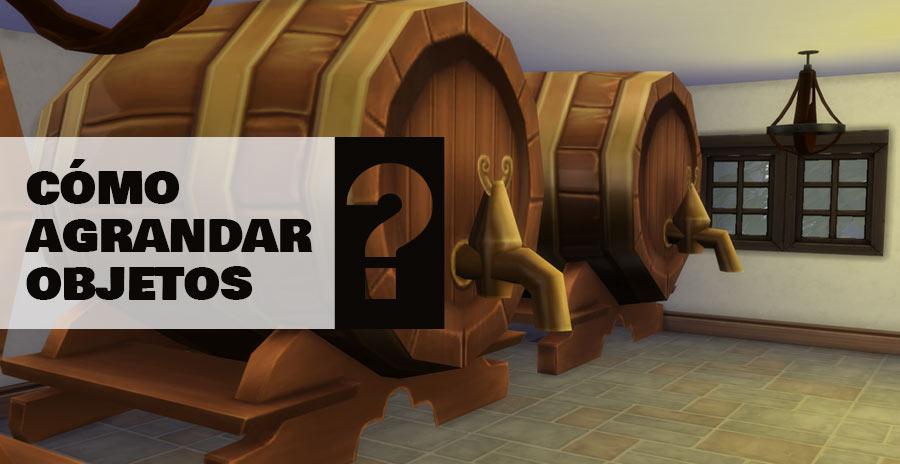 Cómo agrandar o empequeñecer objetos en Los Sims 4