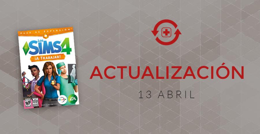 Actualización expansión ¡A Trabajar! y Los Sims 4
