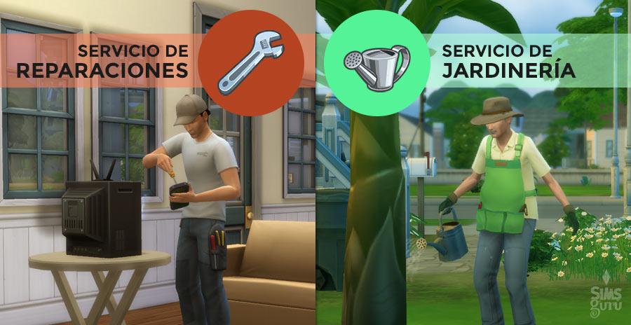 Servicio de reparaciones y jardinería Mod para Los Sims 4
