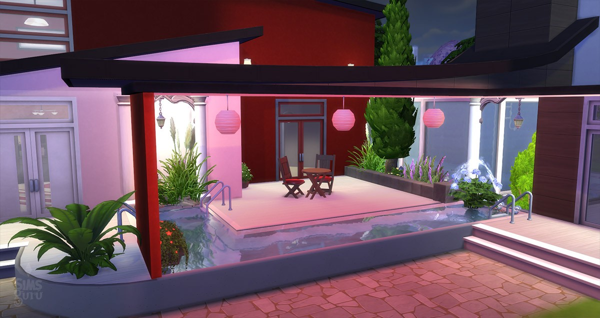 Casa modern chill out para descargar simsguru for Casa moderna los sims 3