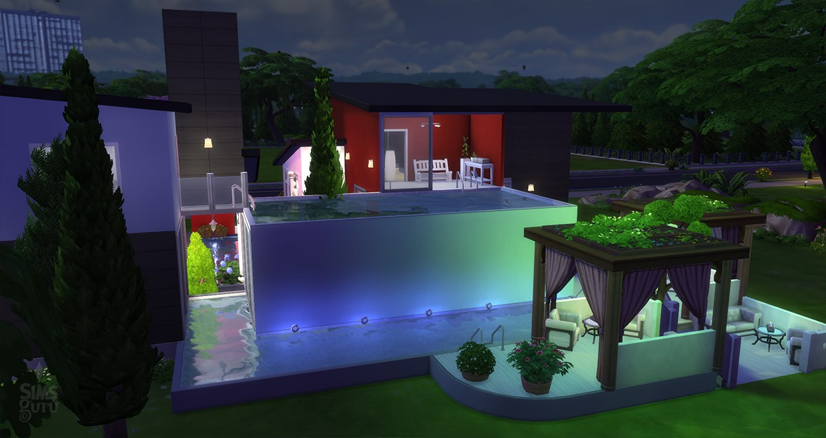 Casa modern chill out para descargar simsguru for Casas modernas sims 4 paso a paso