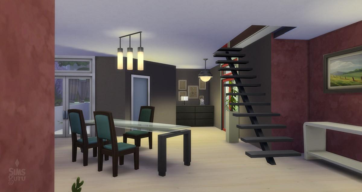 Casa modern chill out para descargar simsguru for Casa moderna sims 3 sin expansiones