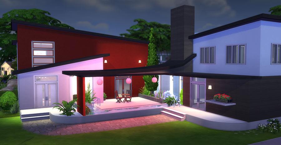 Casa moderna chill out descarga Los Sims 4 galería solares