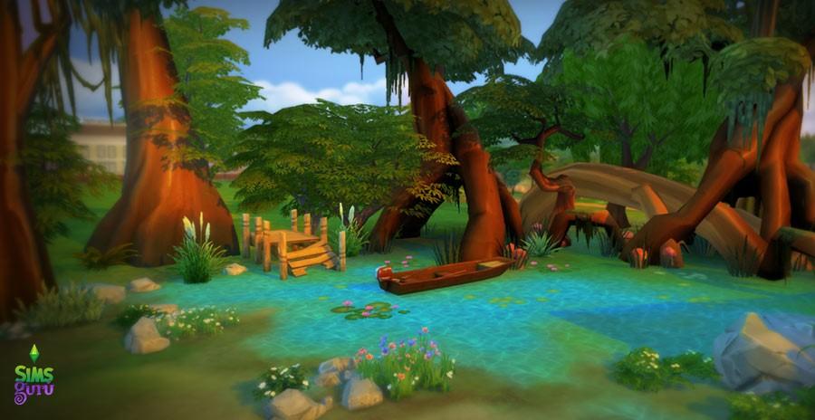 Construye tu pantano en Los Sims 4