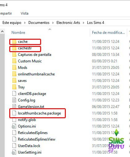 sims 4 how to clear cache