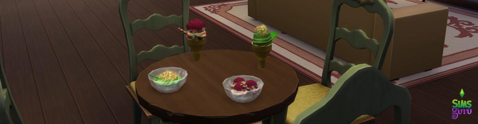 Helados en Los Sims 4