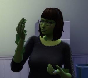 Helados en Los Sims 4: Helado verde vegetal hoja