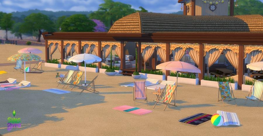 Convierte tu mundo de Los Sims 4 en una playa con todos sus accesorios