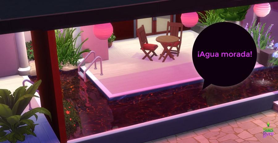 Actualización diciembre Agua púrpura/morada