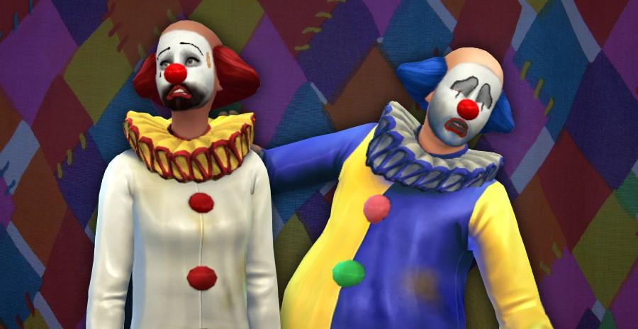 Desbloqueado disfraz de clown o payaso triste