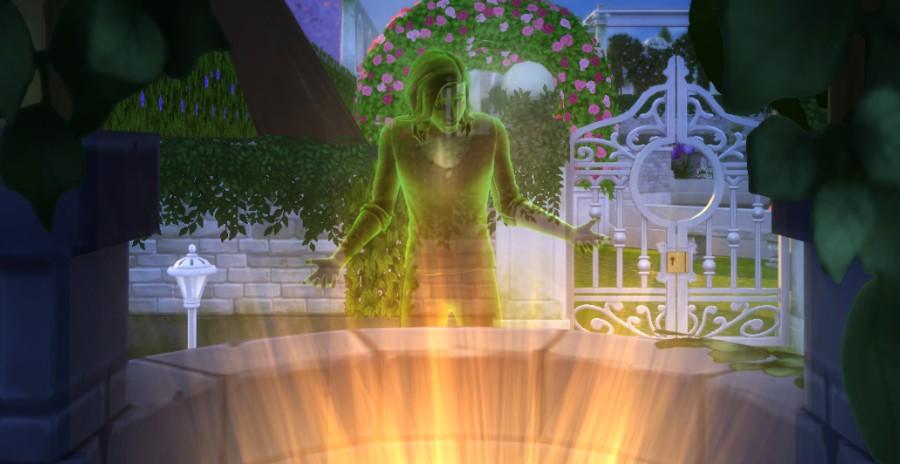 Revivir a un Sim fantasma en el Pozo de los Deseos