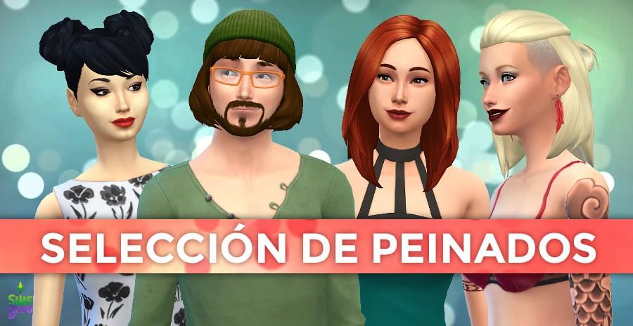 Selección de peinados estilo Los Sims 4