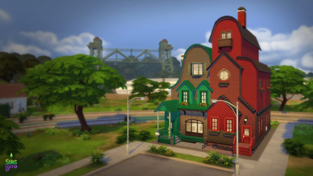 Green & Red Flats, una casa moderna y otra casa clásica