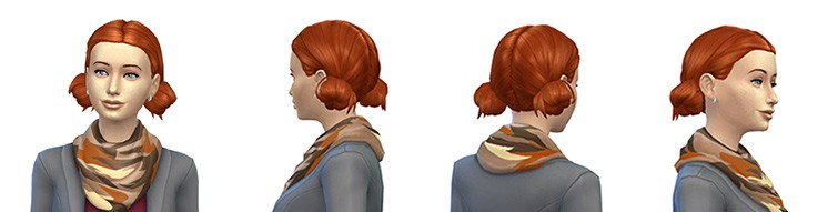 Peinados naturales estilo Sims 4