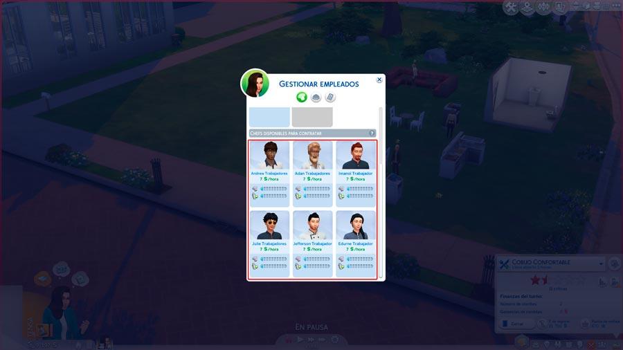 Trabajadores Sims propios