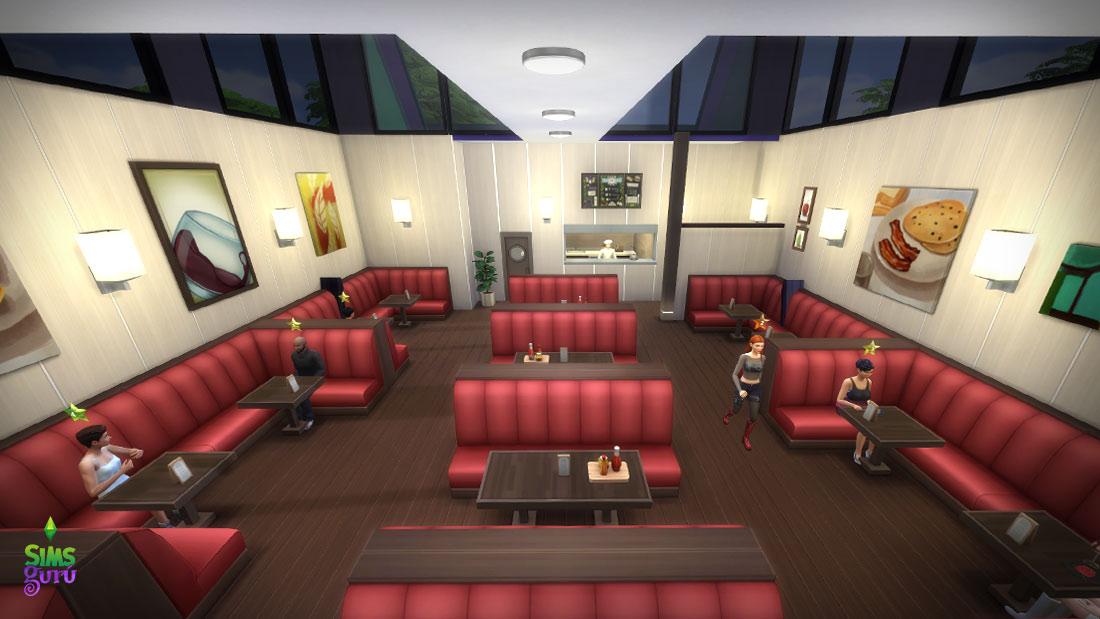 Restaurante de carretera. Solar para descargar de la galería de Los Sims 4