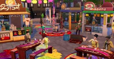 Los Sims 4 Urbanitas: Festivales