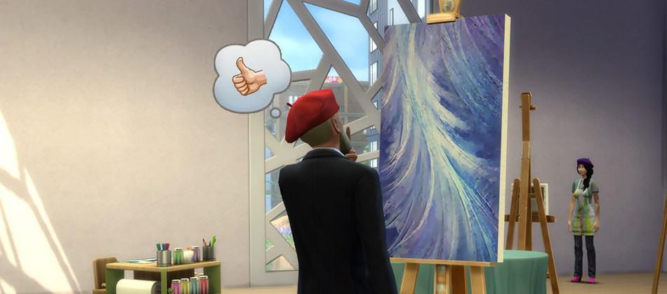 Sims 4 Profesiones: Crítico de Arte