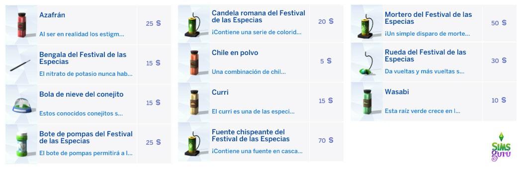 Productos a la venta en el festival de Especias