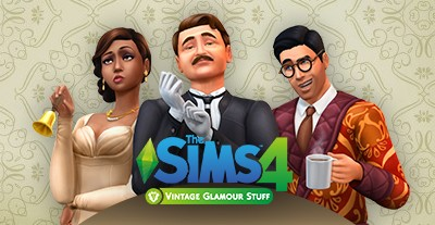 Los Sims 4 Glamour Vintage Pack de accesorios