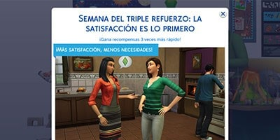 Los Sims 4 bonificación triple refuerzo Jasmine