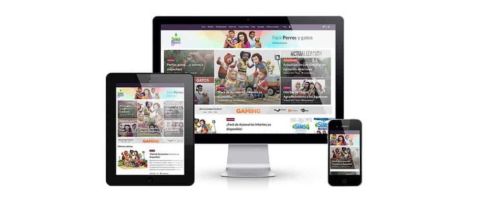 Nueva web responsive Simsguru