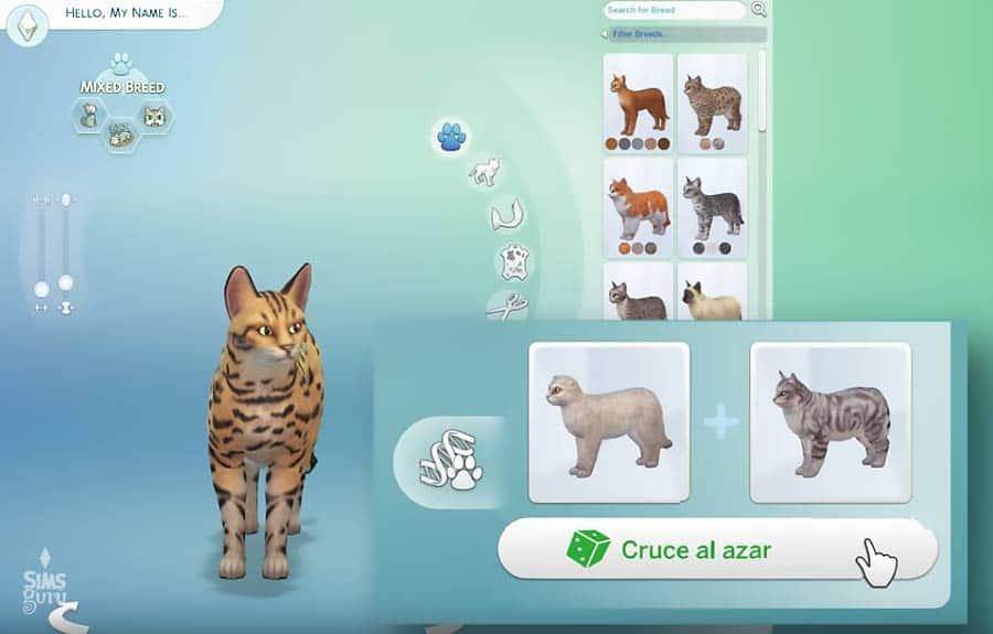 Cruce de razas en Los Sims 4 Perros y gatos