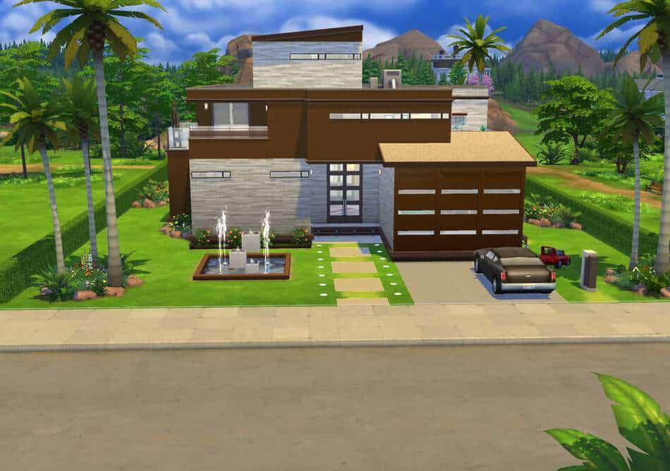 Para so moderno simsguru for Casas modernas sims 4 paso a paso