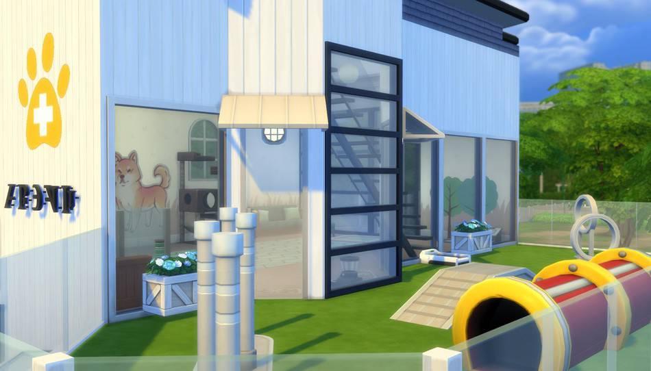 Clínica Veterinaria Mordisquitos Los Sims 4 Perros y Gatos