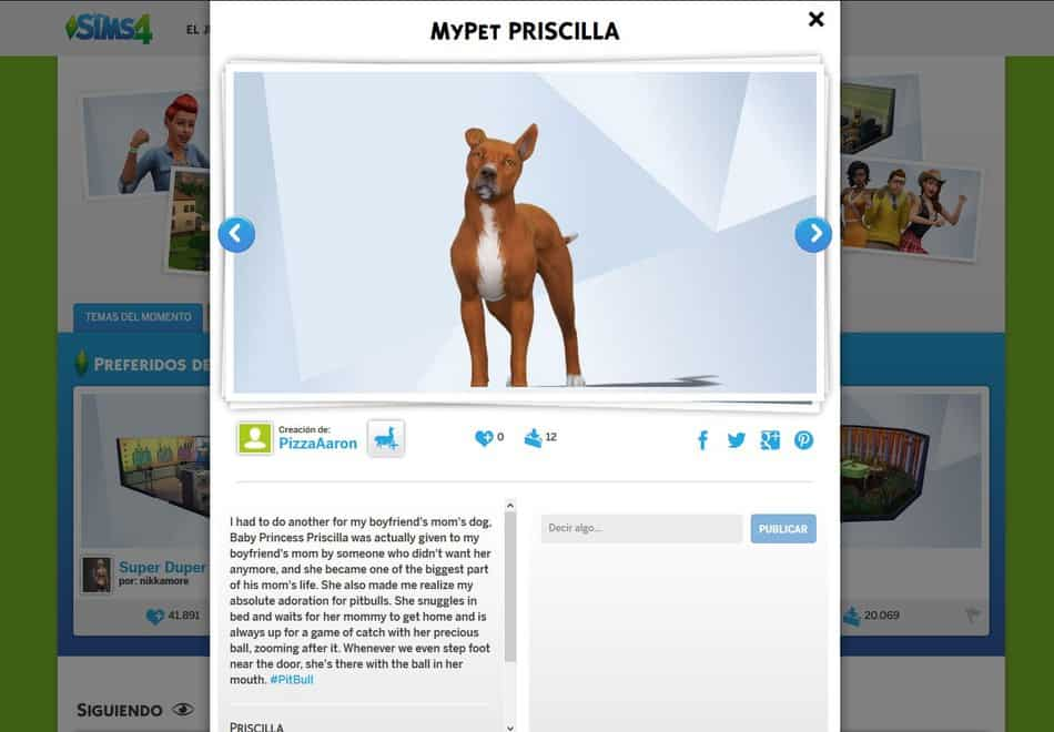 MyPet Priscilla. Desafío Crea tu mascota