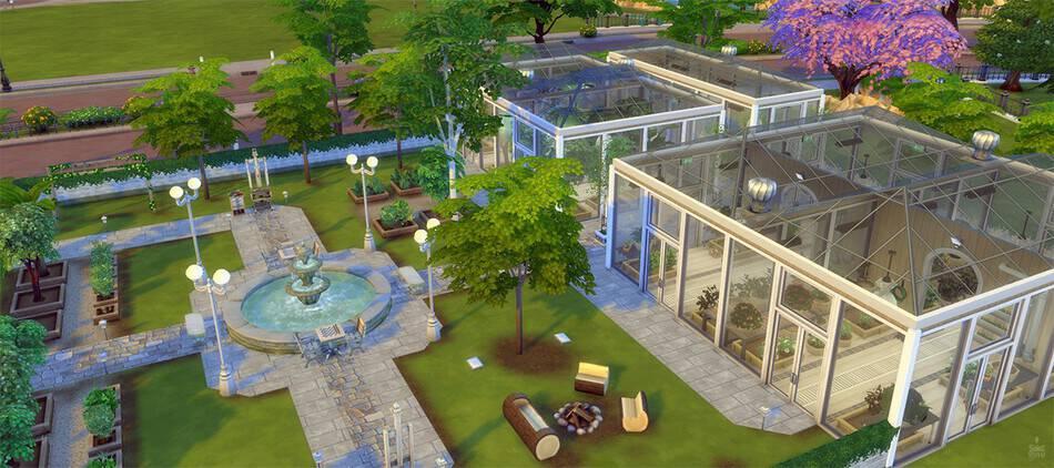 Tejados de cristal en la nueva actualización de Los Sims 4