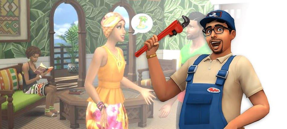 Estilo caribeño en Los Sims 4