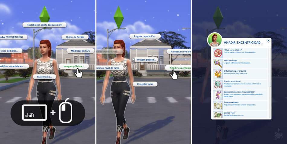 Añadir o eliminar excentricidades en Los Sims 4 Rumbo a la Fama