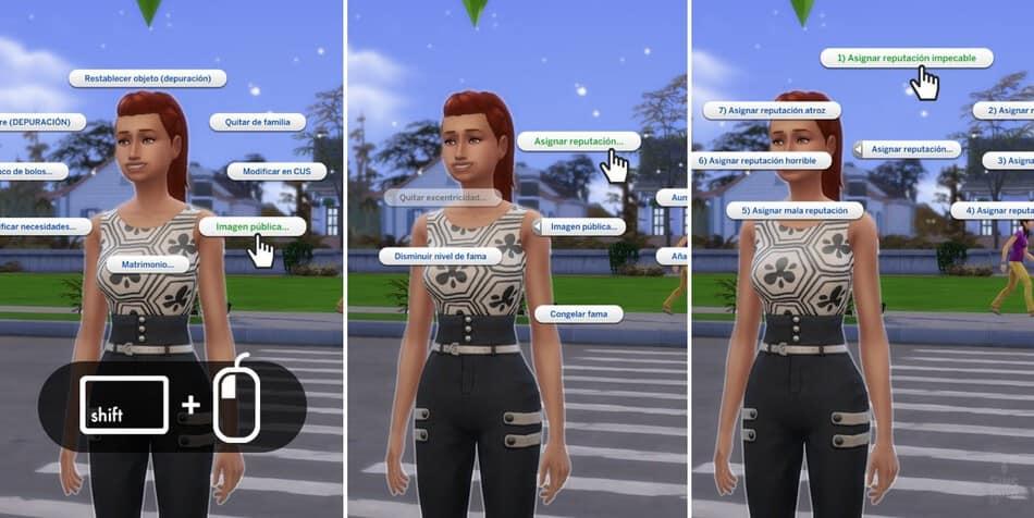 Modificar la reputación en Los Sims 4