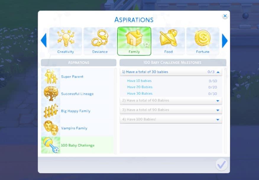 Aspiraciones mod 100 Caby Challenge