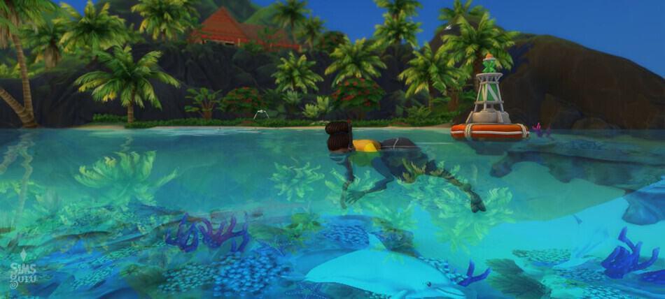 Profesión buzo o submarinista Los Sims 4 Vida Isleña