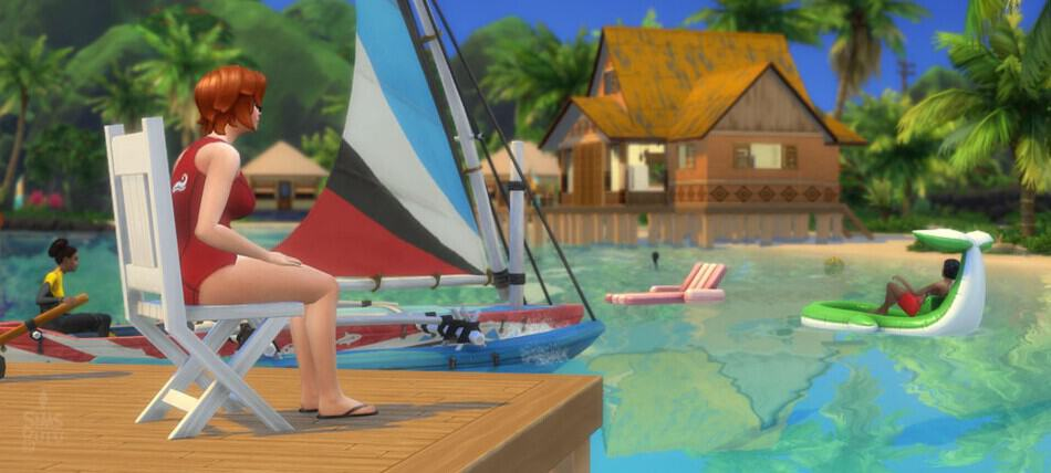 Profesión socorrista Los Sims 4 Vida Isleña